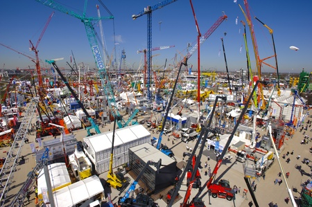 MUNICH, GERMANY - APRIL 15: the world biggest trade fair for building machines, titled BAUMA 2013, takes place with 3400 exhibitors from 57 nations from 15.-21. April 2013 in Munich, Germany