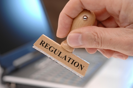 regulation: regulation marked on rubber stamp