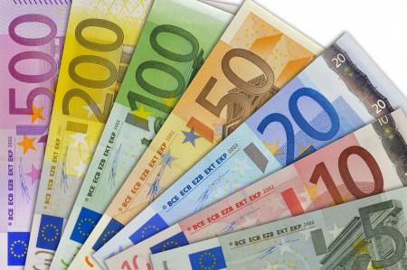 fan of all euro banknotes