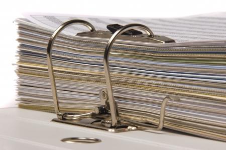 many documents in file folder photo