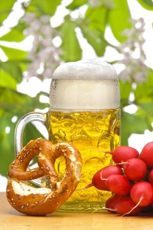 big glass of bavarian beer Stock Photo - 20369110