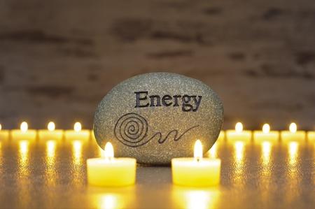 Japanese zen garden with stone of energy Stock Photo - 20466256