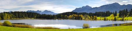 panorama view over beautiful rural landscape in Bavaria, Germany photo
