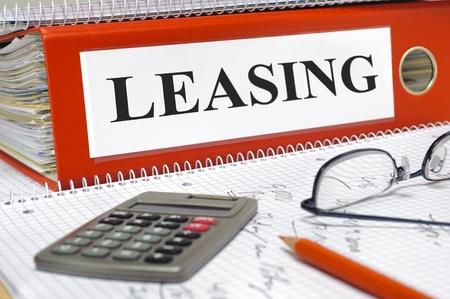 Leasingverträge in Ordner Standard-Bild - 20613354