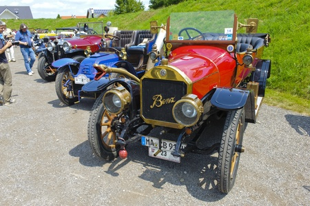 LANDSBERG, GERMANY - JULY 13: Oldtimer rallye for at least 80 years old antique cars with Benz 820, built at year 1913, photo taken on July 13, 2013 in Landsberg, Germany