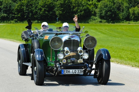 t5: LANDSBERG, GERMANY - JULY 12: Oldtimer rallye for at least 80 years old antique cars with Lagonda open Tourer T5, built at year 1930, photo taken on July 12, 2013 in Landsberg, Germany Editorial