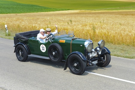 t5: LANDSBERG, GERMANY - JULY 13: Oldtimer rallye for at least 80 years old antique cars with Lagonda open Tourer T5, built at year 1930, photo taken on July 13, 2013 in Landsberg, Germany