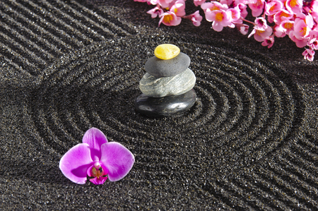 Japan zen garden photo