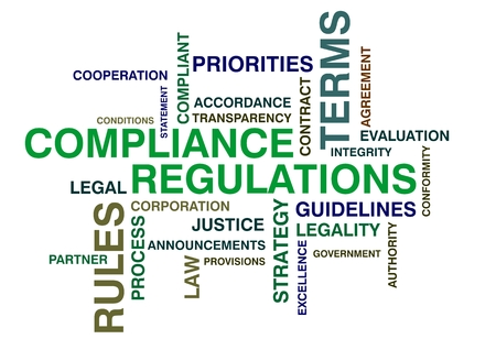 wordcloud for compliance and regulations photo