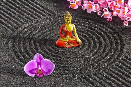 stone buddha: Japanese ZEN garden with stacked stones