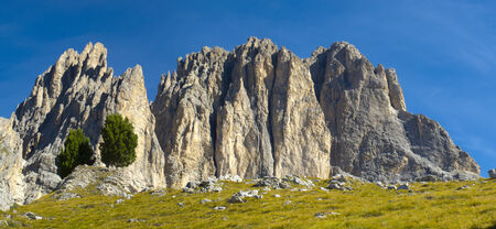 dolomites: panorama landscape at alps dolomites in Italy Stock Photo
