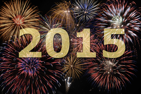 fireworks at new year s eve 2015