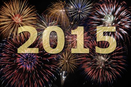 fuochi d'artificio di nuovo anno s vigilia 2015