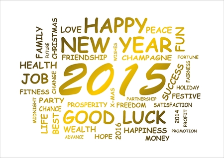 word cloud for new year 2015 photo