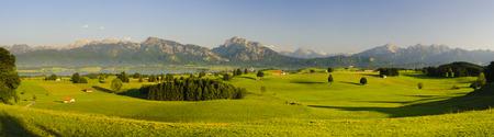 paysage panoramique rural en Bavière, Allemagne