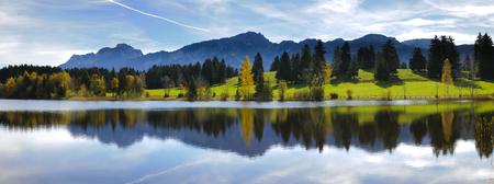 paysage panorama rural en Bavière, Allemagne Banque d'images
