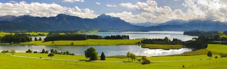 panorama paysage en Bavière, Allemagne Banque d'images