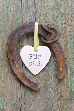 horseshoe with for you message photo