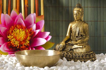 meditation pray religion: Buddha sitting in meditation