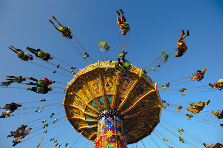 chain swing ride: carousel at Oktoberfest in Munich