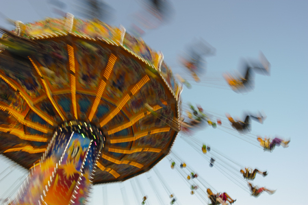 theme park: carousel at Oktoberfest in Munich