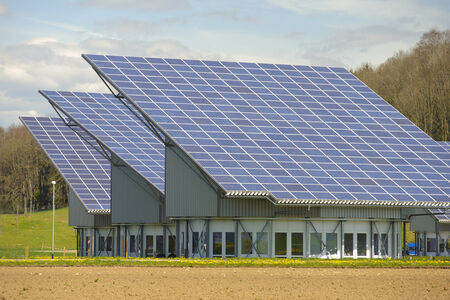 solar system on industrial roof in Germany