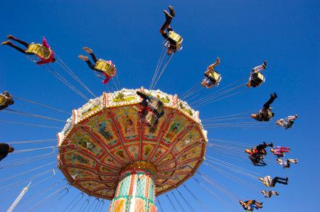 chairoplane: carousel at Oktoberfest in Munich