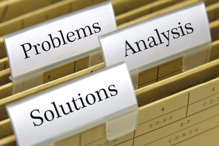 government regulations: problems, analysis and solutions printed on file folder