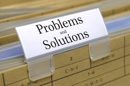 specifications: problems and solutions printed on file folder