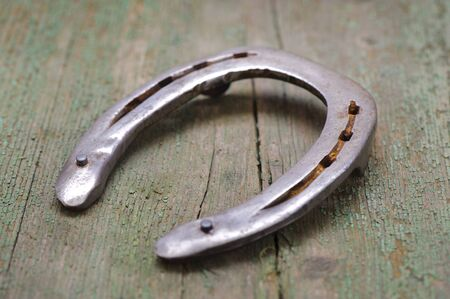 lucky charm: horse shoe as symbol for lucky charm Stock Photo