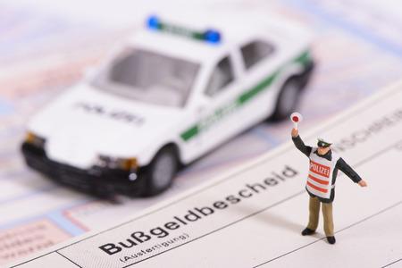 traffic ticket: traffic ticket from german police