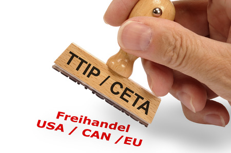 CETA and TTIP Transatlantic trade and investment partnership photo