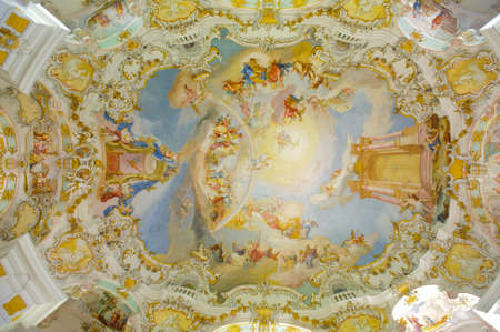 unesco: church named Wieskirche in Bavaria is a world famous landmark and UNESCO heritage Editorial