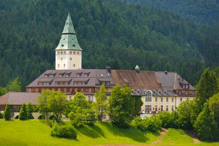 schloss: castle Elmau nearby city Klais in Bavaria