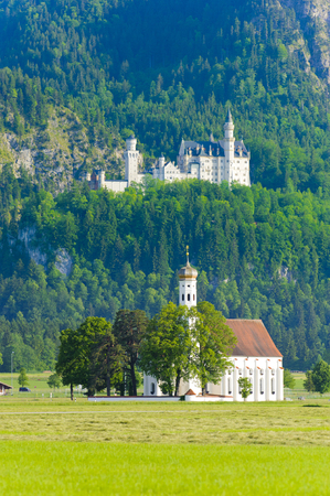 schwangau: landmark castle Neuschwanstein in Bavaria, Germany