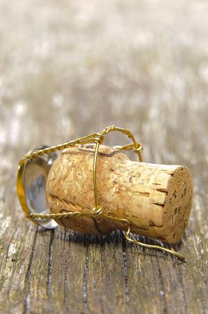 uncork: cork of champagne Stock Photo