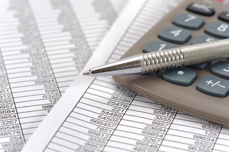 finance and budget calculation with table sheet