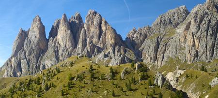 dolomite: Panorama landscape at dolomite alps in Italy Stock Photo