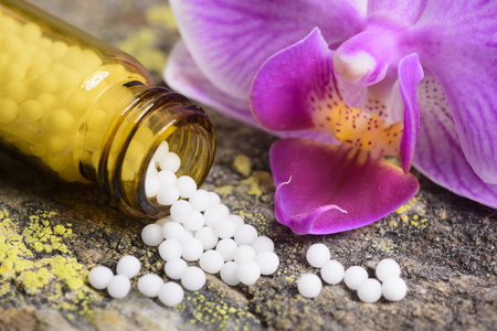 homeopathic: alternative medicine with herbal and homeopathic pills