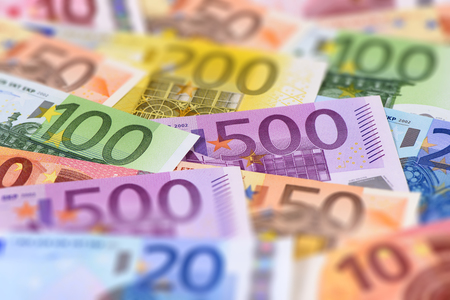 european exchange: banknotes of euro currency