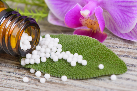 alternative medicine with herbal pills Standard-Bild