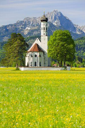 schwangau: landmark church St. Coloman in Bavaria Stock Photo