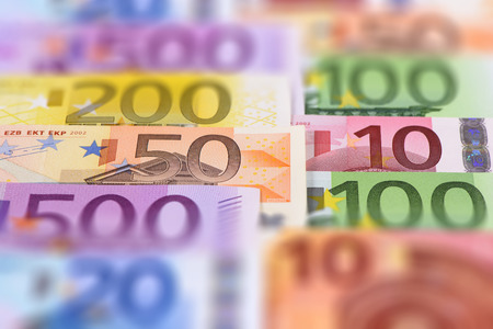 50 euro: banknotes of euro currency
