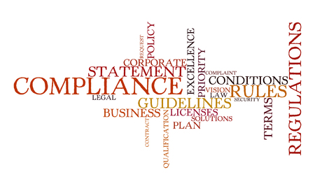 priorities: Word cloud for compliance, rules and regulations