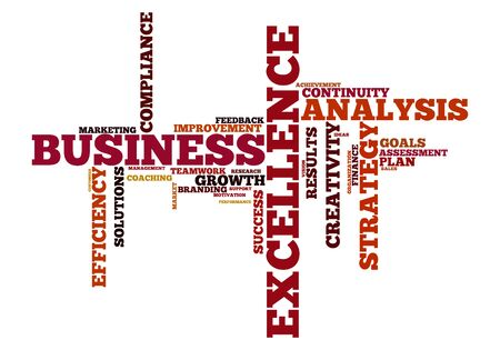 word cloud: word cloud for business, analysis, strategie and excellence