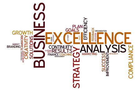 business analysis: word cloud for business, analysis, strategie and excellence