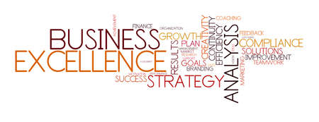 customer service: word cloud for business, analysis, strategie and excellence