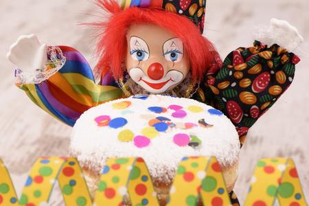hanuka: doughnut with clown at carnival
