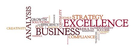 brand activity: word cloud for business, excellence and strategy