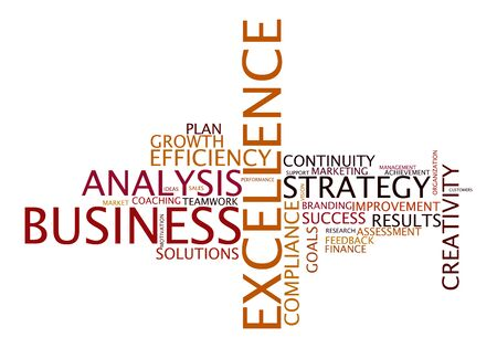 excellence: word cloud for business, excellence and strategy